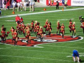Tampa Bay Buccaneers Cheerleaders entertain the fans