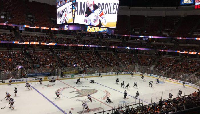 Anaheim Ducks and LA Kings game