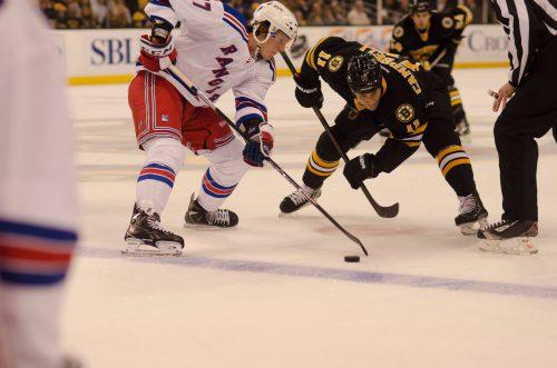 Boston Bruins vs New York Rangers game