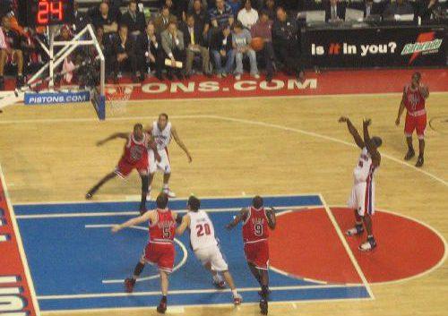Chicago Bulls vs Detroit Pistons game