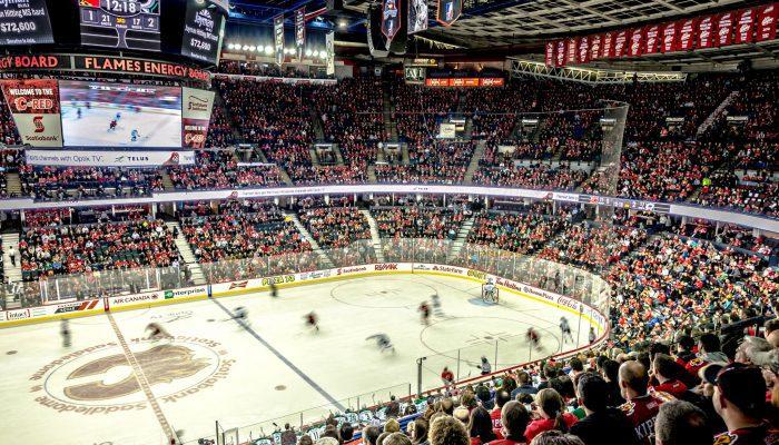 Calgary Flames game scoreboard