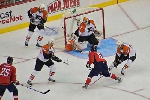 Washington Capitals vs Philadelphia Flyers game