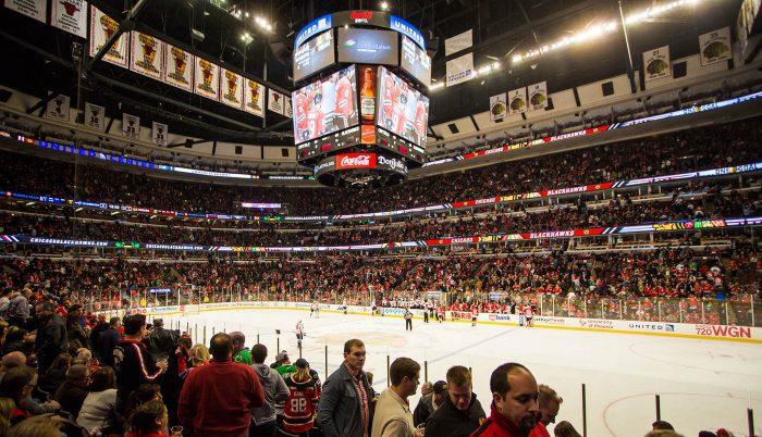 Chicago Blackhawks scoreboard banners