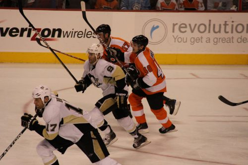 Philadelphia Flyers vs Pittsburgh Penguins game