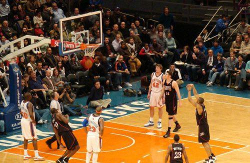 New York Knicks vs Philadelphia Seventy Sixers game