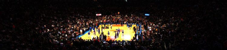 basketball game at Madison Square Garden