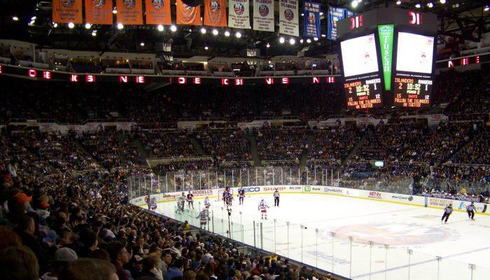 New York Islanders game banners scoreboard