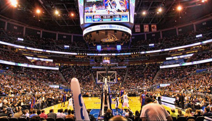 Detroit Pistons vs Orlando Magic game scoreboard