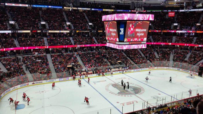 Ottawa Senators stadium scoreboard