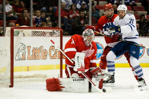 Red Wings vs Maple Leafs hockey game