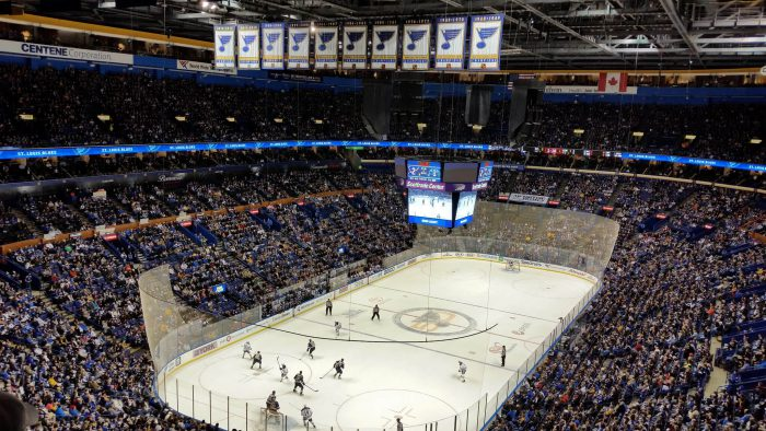 St Louis Blues banners game