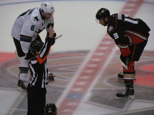 San Jose Sharks vs Anaheim Ducks game
