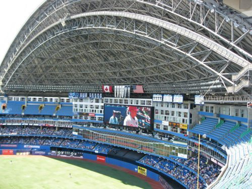 Home of the Toronto Blue Jays Rogers Centre