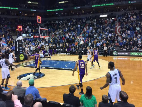Lakers vs Timberwolves basketball game