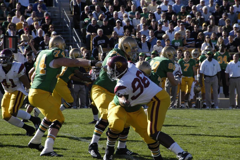 USC Trojans vs Notre Dame Fighting Irish football game