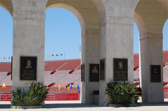 Court of Honor plaques at Los Angeles Memorial Coliseum