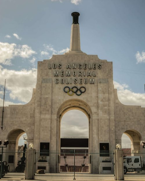 Olympic Cauldron at Los Angeles Memorial Coliseum