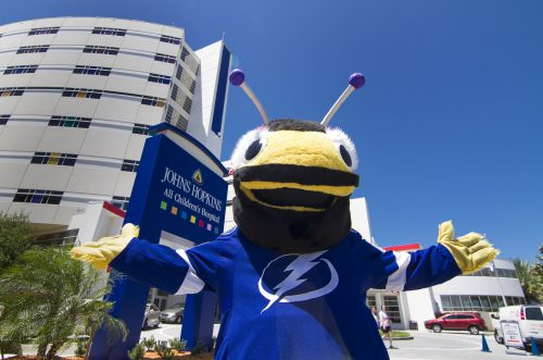 ThunderBug mascot of Tampa Bay Lightning