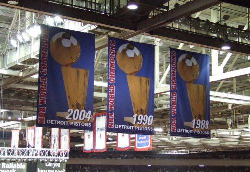 Detroit Pistons banners