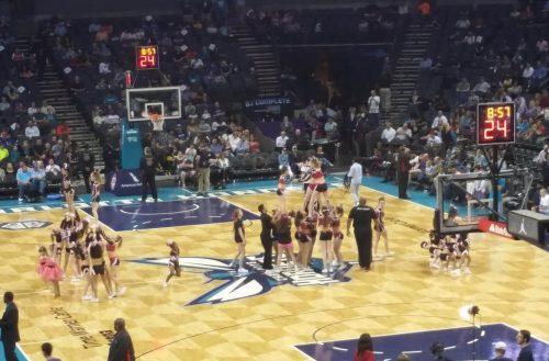 Charlotte Hornets Kiddie Cheerleaders halftime entertainment