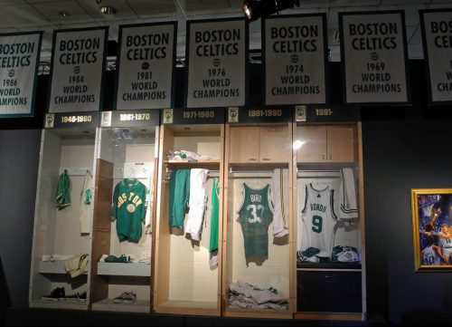 Boston Celtics banners