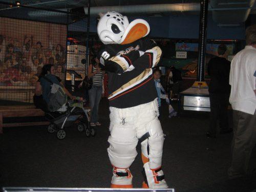 mascot of Anaheim Ducks Wild Wing