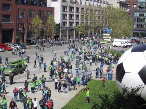 Sounders Soccer Celebration