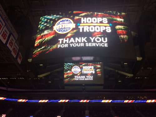Detroit Pistons Hoops For Troops