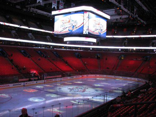 Bell Centre scoreboard