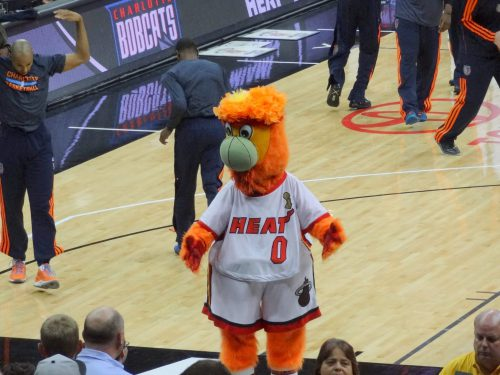 Miami Heat mascot Burnie