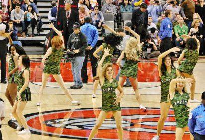Toronto Raptors dancers