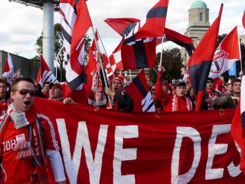 Toronto FC marching fans