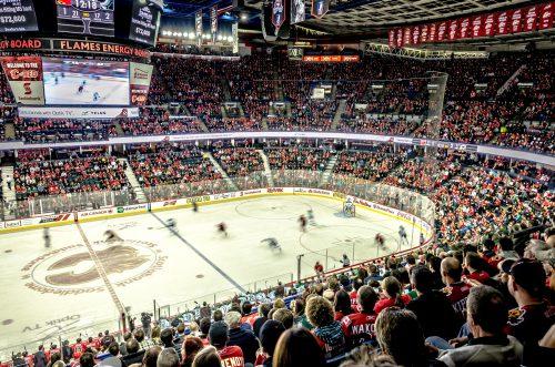 Calgary Flames hockey game Scotiabank Saddledome