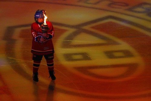 Montreal Canadiens ice torch NHL Eastern Conference semi final hockey series