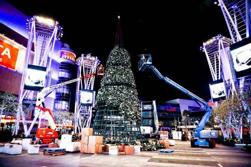 Christmas tree at LA Live