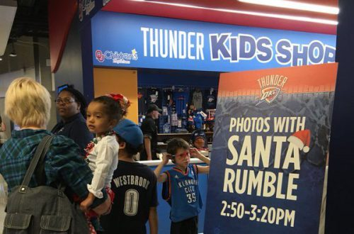 Oklahoma City Thunder OU Childrens Physicians Kids Zone