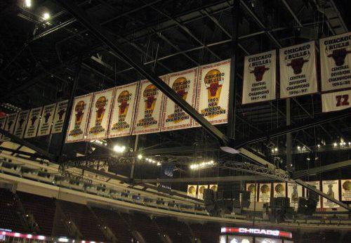 Chicago Bulls Championship banners