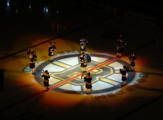 Bag pipers Boston Bruins
