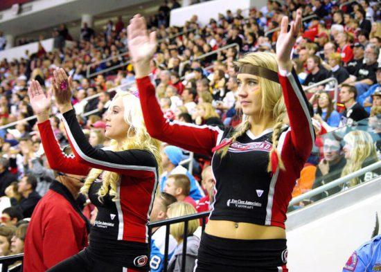 Carolina Hurricanes cheerleader