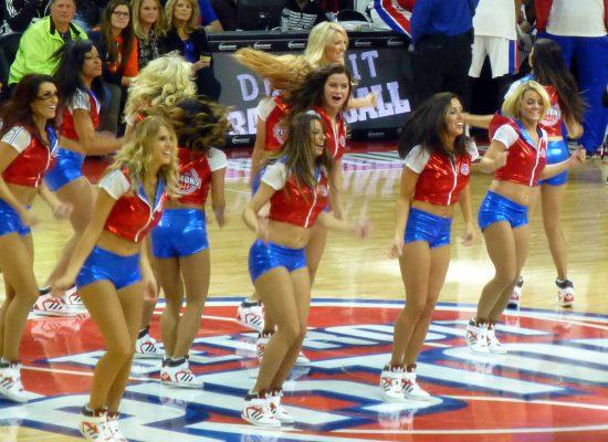 Detroit Pistons dancers