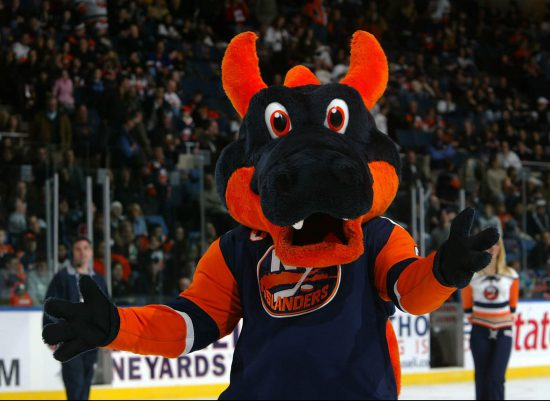 New York Islanders mascot Sparky the Dragon