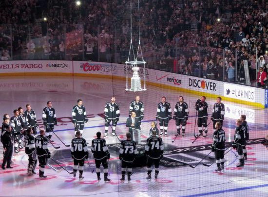 Stanley Cup banner raising ceremony