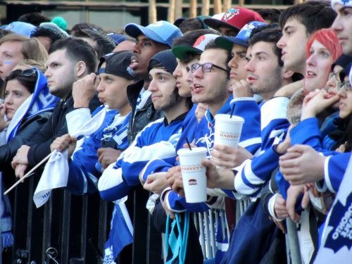 Toronto Maple Leafs fans outside Air Canada Centre