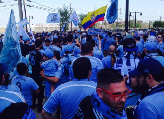 NYCFC fans tailgating