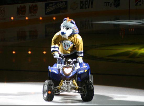 Gnash mascot of Nashville Predators