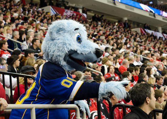 St Louis Blues mascot Louie