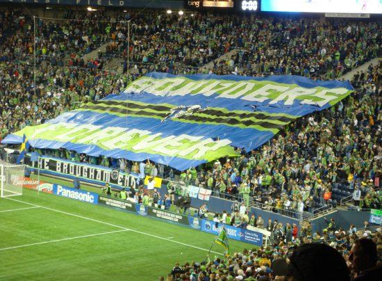 Seattle Sounders Flag Fans