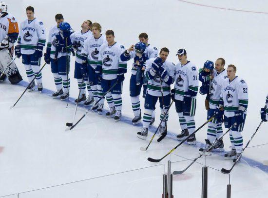Vancouver Canucks hockey players