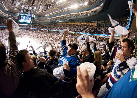 Vancouver Canucks fans celebrate