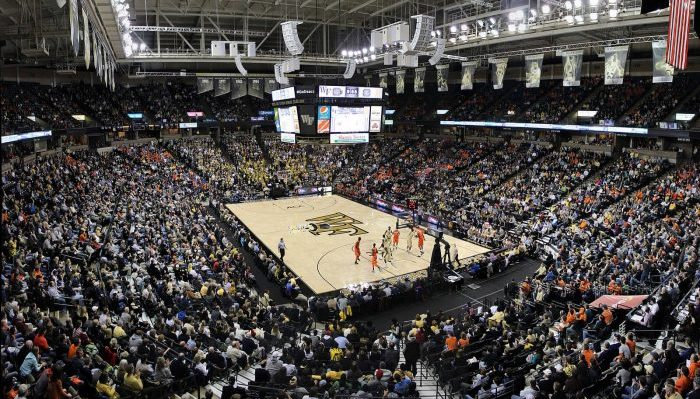 Lawrence Joel Veterans Memorial Coliseum Wake Forest Demon Deacons